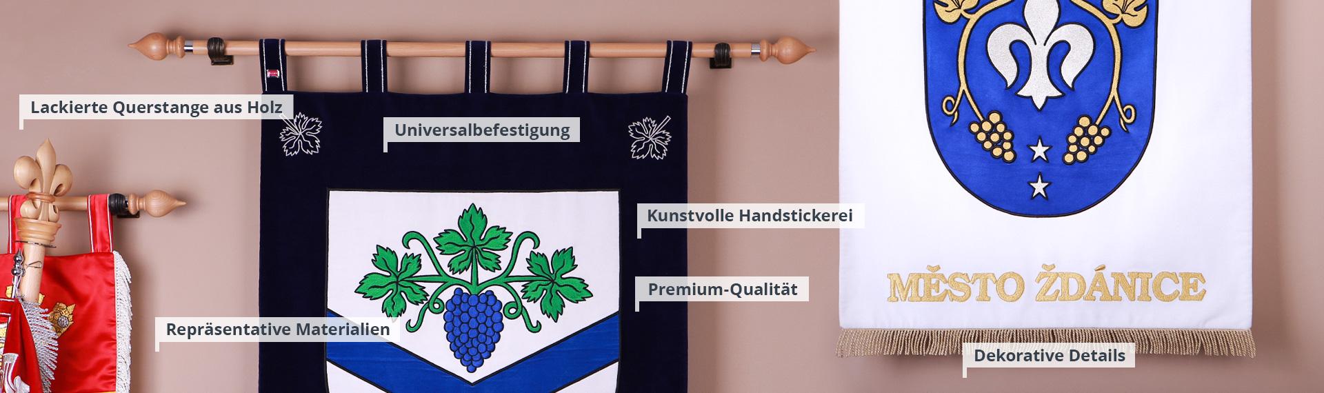 Bestickte Wappen