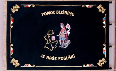 Geschichte über die Fahne vom Bezirksfeuerwehrverein (OSH) Prag - West