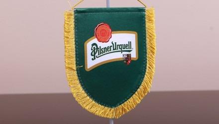 Stolní vlaječky s logem pivovaru