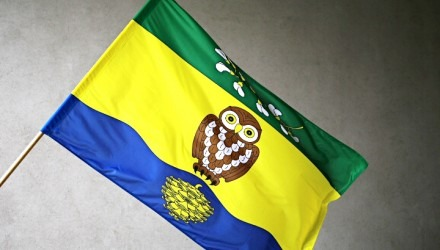 Venkovní tištěné obecní, městské vlajky