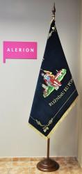 Bestickte Fahne des Freiwilligen Feuerwehrvereins (SDH) Podivín