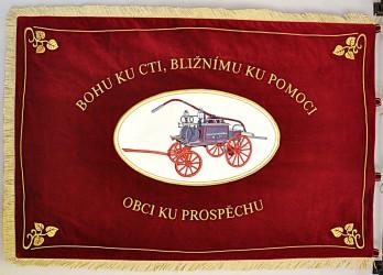 Bestickte Fahne des Freiwilligen Feuerwehrvereins (SDH) Světlá