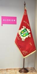 Bestickte feierliche Feuerwehrfahne des Freiwilligen Feuerwehrvereins (SDH) Lovcice