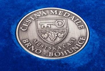 Detail einer Medaille
