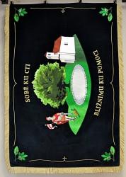 Feuerwehrfahne des Freiwilligen Feuerwehrvereins (SDH) Lhota