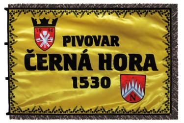 Bestickte Firmenfahne - Brauerei Černá Hora