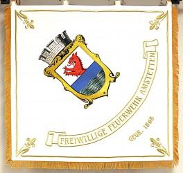 Gestickte Fahne für Freiwiligefeuerwehr der Stadt Amstetten
