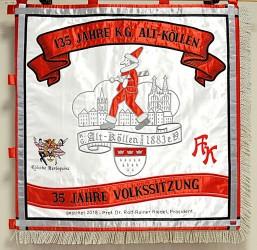 Vorderseite der Fahne für Freizeitverein.