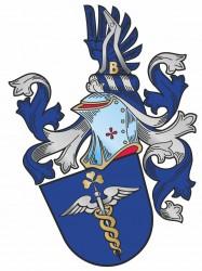Beispiel für ein persönliches Wappen in Verbindung mit Firmensymbolik