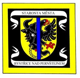 Entwurf der Standarte für den Bürgermeister der Stadt Bystřice nad Pernštejnem