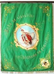 Historische Feuerwehrfahne des Feuerwehrvereins DHZ Pezinok