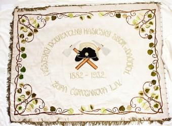Historische Feuerwehrfahne des Freiwilligen Feuerwehrvereins Dačice