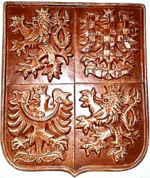Großes Staatswappen der Tschechischen Republik aus Keramik