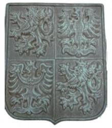 Staatswappen aus Keramik (Werkstoff: Steingut)