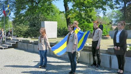 Präsentation der Flagge der Stadt Zlín