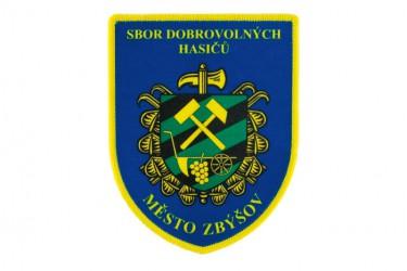 Ärmelaufnäher für den Freiwilligen Feuerwehrverein (SDH) der Stadt Zbýšov