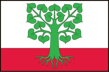 Flagge für die Gemeinde Klokočov