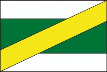 Flaggenentwurf für die Gemeinde Zvěrkovice im Bezirk Třebíč