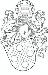 Persönliches Wappen in Schwarz-Weiß-Aausführung