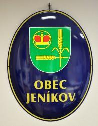 Emailliertes Oval für die Gemeinde Jeníkov