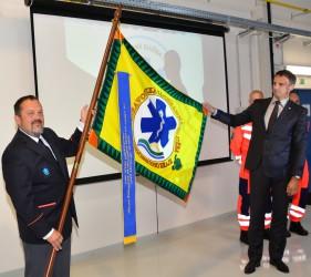 Präsentation der Fahne des Rettungsdienstes der Region Südmähren