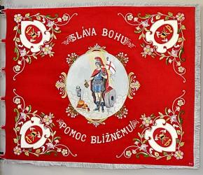Replik der historischen Fahne des Feuerwehrvereins DHZ Kostolany