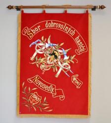 Replik der Fahne des Freiwilligen Feuerwehrvereins (SDH) Novosedly