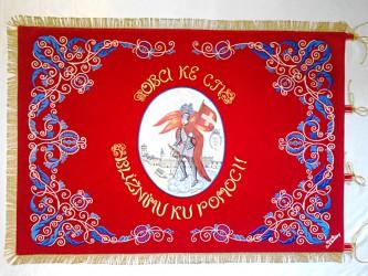 Replik der Fahne des Freiwilligen Feuerwehrvereins Dačice