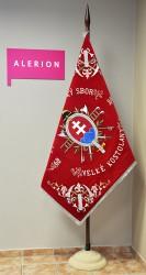 Replik der historischen Fahne des Feuerwehrvereins DHZ Veľké Kostoľany