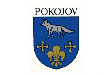 Kundenindividuelle Auftragsproduktion von Aufklebern für die Gemeinde Pokojov