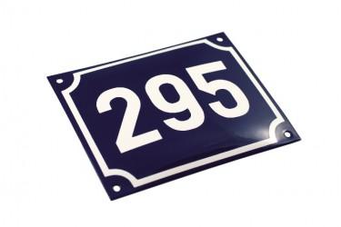 Grundbuchnummer aus Emaille