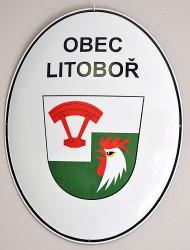 Emailliertes Oval für die Gemeinde Litoboř
