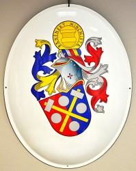 Beispiel für ein persönliches Wappen auf emailliertem Oval