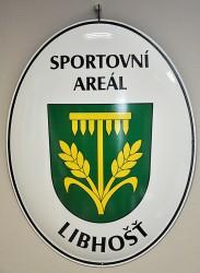 Emaillierte Ovale zur Kennzeichnung des Sportgeländes
