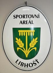 Emailliertes Oval zur Kennzeichnung des Sportgeländes