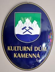 Oval zur Kennzeichnung des Kulturhauses