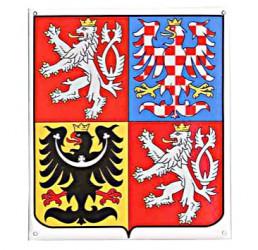 Emailliertes Wappen der Tschechischen Republik