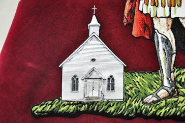 Stickereidetail der Kirche
