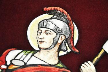 Stickereidetail - der Heilige Florian