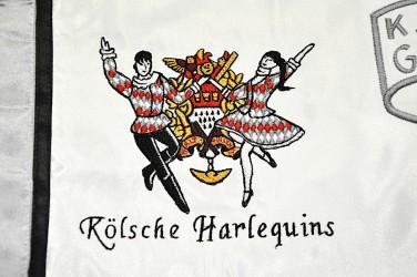 Stickereidetail die Tänzer für Freizeitverein.