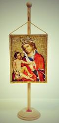 Ikone der Madonna von Veveří in Form einer Tischflagge