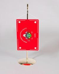 Tischflagge für Feuerwehren mit Metallständer