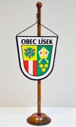 Tischflagge der Gemeinde Lísek