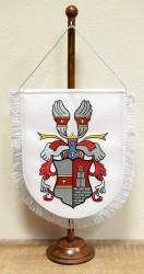 Bestickte Tischflagge mit persönlichem Wappen