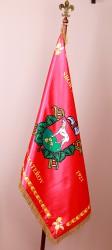 Bedruckte Flaggen aus Satin für Gemeinden und Städte