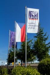 Bedruckte Firmenflaggen für den Außenbereich