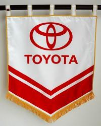 Bedruckte Flaggen und Fahnen aus Satin für Firmen