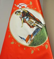 Detail der bedruckten Fahne des Feuerwehrvereins DHZ Bernolákovo