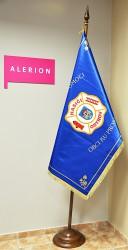 Bedruckte Fahne des Freiwilligen Feuerwehrvereins (SDH) der Stadt Ostrov