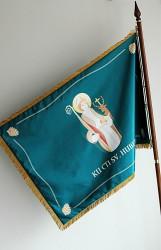 Bedruckte Fahne des MS Halenkov